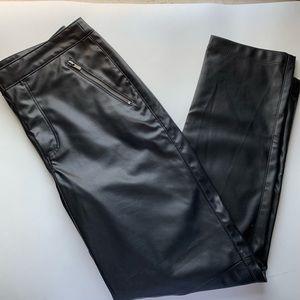TOPSHOP Moto Vegan Faux Leather Zipper Pants